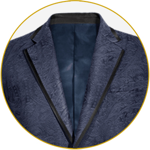 Features pick stitching which evokes the charmingly imperfect look of a handmade suit