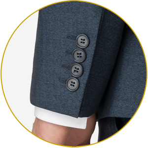 'Working buttons' (i.e ones that open and close) are more often seen on fine English and Italian suits.