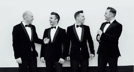 Barbershop quartet suits