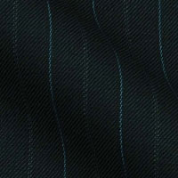 180s Italian Wool Blend Fabric From Gold Collection in Two Tone Soft Pinstripes