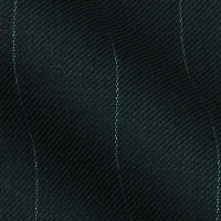 180s Italian Wool Blend Fabric From Gold Collection in Wide Pinstripes