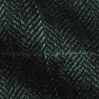 Heavyweight All Wool Winter Fabric in Herringbone Tweed with Windowpane