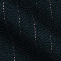 Super 150s Wool by McKenzie Bros England - in 1/2 inch contrast chalk stripe