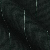 120s super wool and cashmere fabric in one inch pinstripes