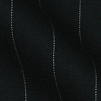 120s Italian super wool blend in pinstripes