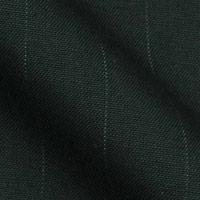 Super 130s Wrinkle Resistant Easy Care Worsted Italian Wool in Soft One Inch Wide Stripe
