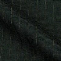 Wool-blend fabric in half-inch pinstripes