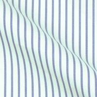 Pure Italian Cotton in classic Wall Street stripe on white