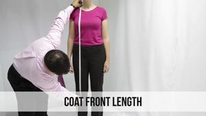 coat front length woman