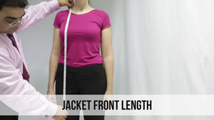 jacket front length woman