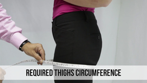 required thighs circumference woman