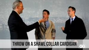 throw on a shawl collar cardigan