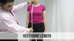 vest front length woman
