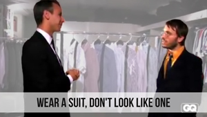 wear a suit dont look like one
