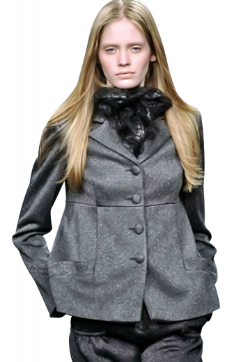 Cut and hand sewn right under the bust, these sizzling winter overcoats can be customized in wool and or cashmere. Closes with four front buttons. With hand molded shoulders, these custom made overcoats display hand pressed notch lapels, two lower welt pockets and a tapered waist.