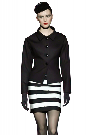 Handmade with cashmere, these summer-spring black jackets are sensational office apparels with a regal square bottom. Single breasted with shirt collar lapels and four front buttons to close. Feel statuesque with the soft tapered waistband these stunners incorporate for perfect curves.