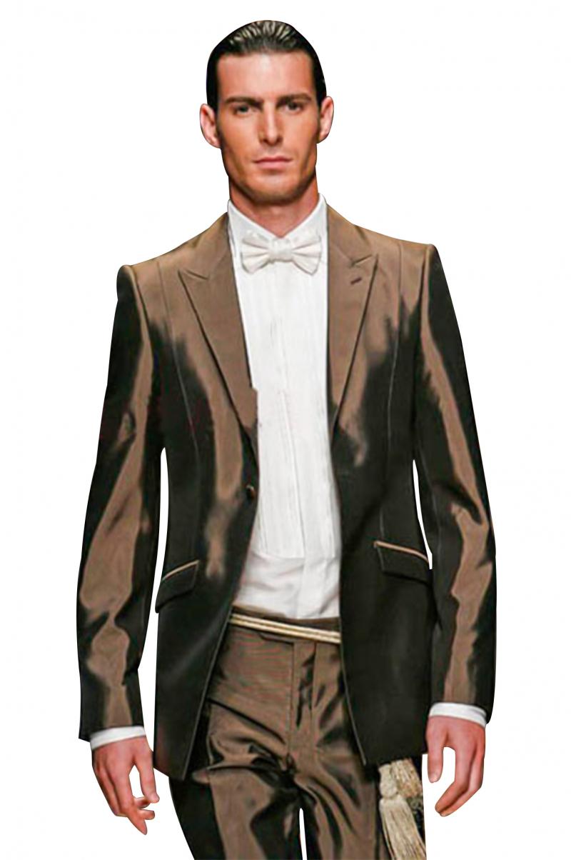 7af75ea0f4cd5e Mens brown slim fit custom tuxedo