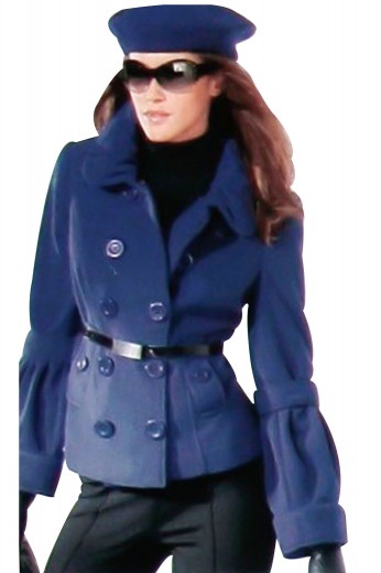 Step out with style in this handmade double breasted blue overcoat featuring tailor made ten buttons, 5 to close, made to measure slanted pocket with flaps and buttons and custom made buttoned epaulettes on cuffs.