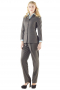 With stylish slim cut jackets creating line silhouettes and snug fit custom pants, these light gray pant suits are perfect graduation and office wears. Jackets highlight double piped ticket pocket on the right, two flapped lower pockets, four front buttons and high notch lapels. Custom pants with flat fronts and soft elastic waistband are very comfortable. These pant suits can be order made in wool and or cashmere.