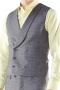 This handsome 6 button waistcoat is perfect for adding some refined flair to any look. Cut with elegant slim fit, this double-breasted piece features welt pockets and a shawl lapel.