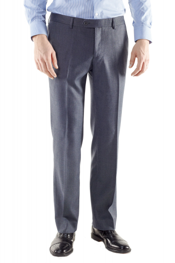 In a gorgeously elegant dark slate, these made to measure men's slim fit dress pants with a comfortable standard fit are a must buy. These elegant pants feature two classic back pockets, two front slash pockets, hand sewn cuff hems and so much more.