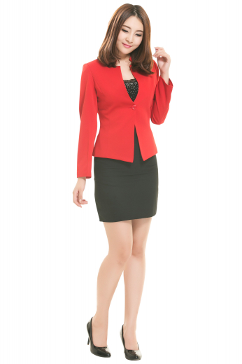 Formal bespoke pencil skirts with flat fronts, back zippers and center vents on the back. Custom made with cashmere, these tailor made black office skirts are super soft and comfortable.