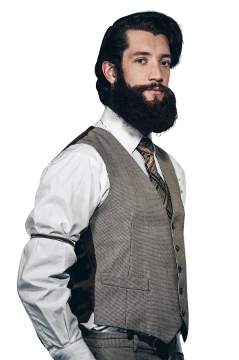A stunning hand-tailored men's vest made by the most skilled Ravis tailors. This gorgeously slim cut single breasted v-neck with no lapels and a medium gorge is made for high-class men.