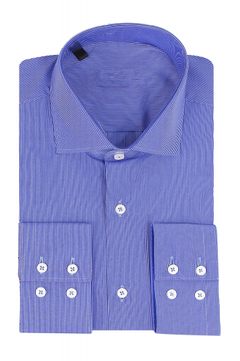 Men classic slim fit no pocket men's dress shirt with Spread collar plain front and Two buttons Barrel cuffs