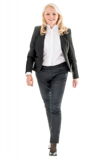 This womens bespoke slim fit black jacket in cashmere wool comes from the range of premium-quality handmade garments at My Custom Tailor. With an iconic representation of shawl collar and 2 double piped lower pockets, this womens made to order single breasted jacket has a 2 button front closure for proper fitting. You can also get it customised with hand stitched edges of lapels and pockets for a neater look. Wear this womens bespoke wool jacket and be a trendsetter at work.