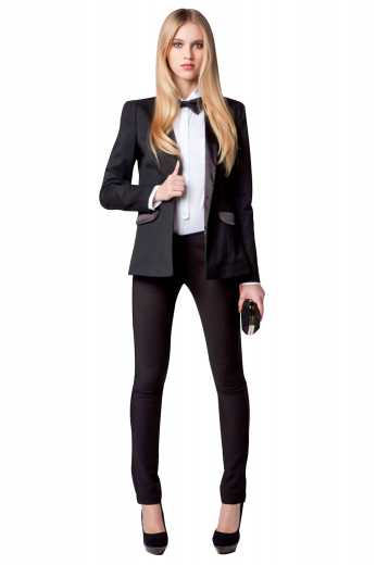 Get your girl power on with this gorgeous women's custom-made tuxedo jacket made out of the finest soft English virgin cashmere. This exquisite women's single-breasted jacket is made from a light solid fabric for the warmer months.