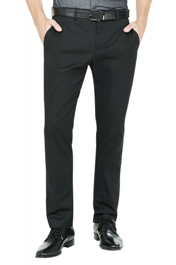 Mens made to order charcoal grey dress pants in cashmere. Perfect for interviews, board meetings, and corporate events. With extended belt loops and a 2 point button and hook closure, these dapper mens tailor made slim fit cotton pants also feature a stunning display of 2 intricately hand sewn front slash pockets, 2 back pockets, and a zipper fly. Buy these mens tailor made suit pants at My Custom Tailor to experience what true luxury feels like at the rates that you can afford.
