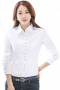 This super stylish womens bespoke white shirt in cotton is an ideal garment for meetings, interviews, and corporate parties. It showcases a beautifully hand sewn Ainsley collar adorned with color contrast buttons to close. This womens made to order cotton blouse with a slim cut fitting has a placket front. It looks super stylish with two buttons square barrel cuffs and an elegant princess dart back. Wear it with womens bespoke suit skirts and womens tailor made suit pants to experience class like never before.