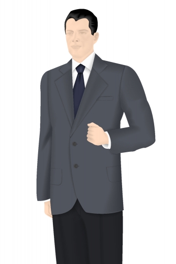 This made to measure men's two-button suit jacket comes with outstandingly beautiful features such as a single breasted two button design with notch lapels that are quite flattering and stylish. With its top of the line design features, this fashionable piece would pair nicely with a pair of vintage suit pants.