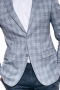 These men's grey plaid blazer is perfect for all formal occasion. It is tailor made in a fine wool and tweed and cut to a slim fit, featuring single breasted button closure and hand stitched lapels.