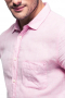 This soft pink men's button down is tailor made in a fine wool blend and cut to a slim fit, featuring rounded barrel cuffs and a semi spread collar, perfect for office wear.
