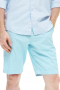 These bold teal shorts are tailor made in a fine wool blend and cut to a slim fit, featuring slash pockets and extended belt loops.