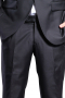 This men's pant suit is tailor made in a slim fit and created in a fine wool blend, featuring a single breasted button closure and slash pockets.