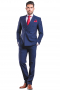 This men's pant suit is tailor made to a slim cut, featuring peak lapels and a double breasted closure, perfect for all occasions.