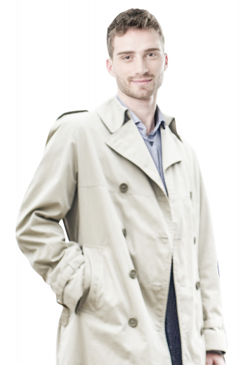 This women's outercoat is tailor made in a wool blend, perfect for all men. It is a double breasted style, hand stitched lapels, with an eight button closure.