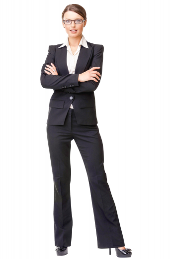 This women's slim fit pant suit featuring flare legs and peak lapels. It is custom made in a wool blend, a great staple for your work wardrobe.