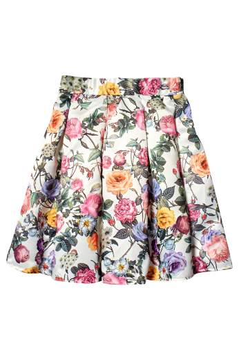 This 8 panel, knee length skirt is perfect for Sunday brunches with girlfriends or casual days out. In a box pleat style with a zipper closure, the classic skirt is made to measure in a wool blend.