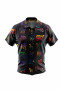 Graffiti feelings print short sleeve men's shirt for casual wear. Men's short sleeved shirt for casual wear. A fun colorfully worded men's custom bespoke short sleeve dress shirt intricately designed print. This men's made to measure dress shirt is great for a casual day out on the town and also for summer vacation. This made to measure dress shirt will make a great addition to your summer collection.