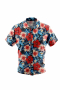 Hibiscus flower print short sleeve men shirt by casual wear. Men's short sleeved shirt for casual wear. A fun colorful men's custom tailored short sleeve dress shirt intricately designed print. This men's made to measure dress shirt is great for a casual day out on the town and also for summer vacation. This handstitched dress shirt will make a great addition to your summer collection.