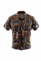 A fun and stylish men's custom tailored short sleeve dress shirt intricately designed with coffee inspired print. This men's made to measure dress shirt is great for a casual day out on the town and also for summer vacation. This handstitched dress shirt will make a great addition to your summer collection.