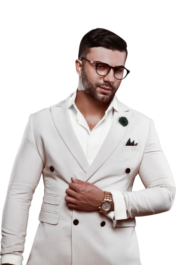 Mens Designer Brands – Double Breasted Suits – style number 17320
