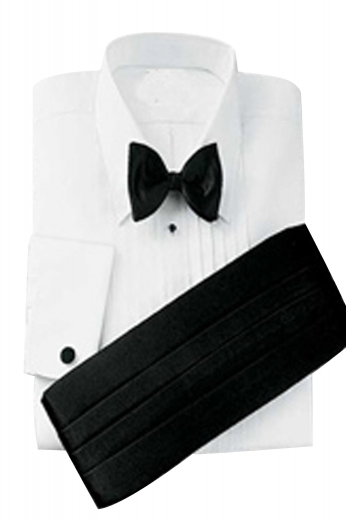 A bespoke men's custom-tailored perfect tuxedo shirt for weddings and dinner parties. This chic European style shirt is elegantly tailored for you.