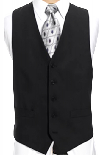 A five button two pocket standard men's vest made with in a herringbone pattern with wool and cashmere. This men's waistcoat is a must-have.