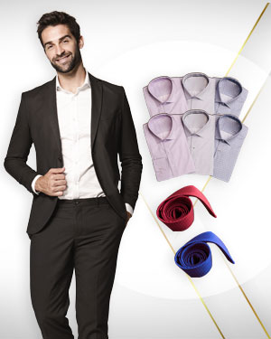 A Package for the Consultant - 1 Suit, 6 Shirts and 2 Neckties from our Premium Collection