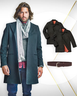 Overcoat Special Price - 3 Overcoats and 1 Belt from our Mens Exclusive Collection