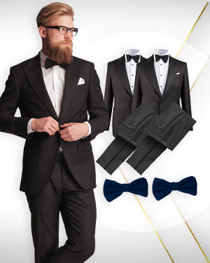 3 Tuxedos and 2 Bowties From our Mens Exclusive Collections